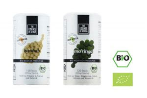 Neu: Bio Moringa & Baobab Presslinge