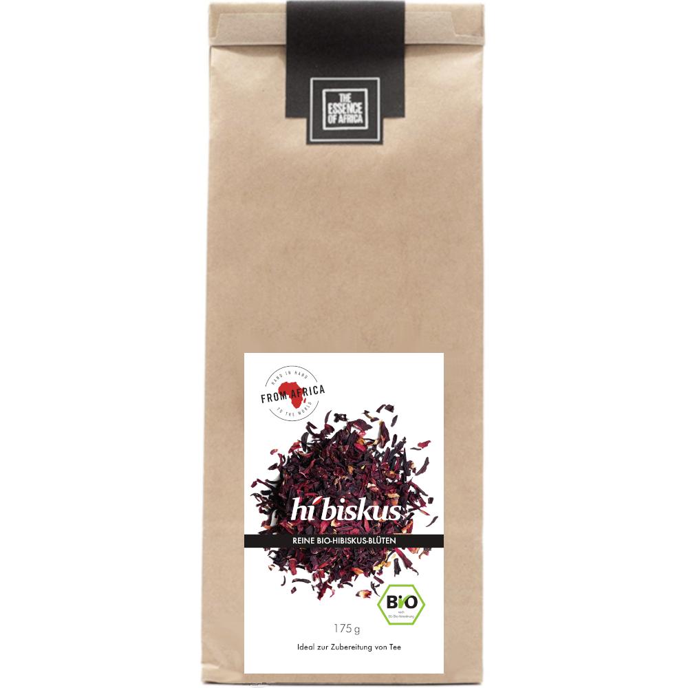 bio hibiskus blüten tee